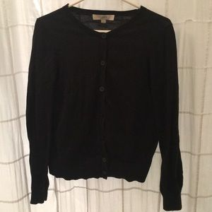 Size small black Loft cardigan with detailed cuffs